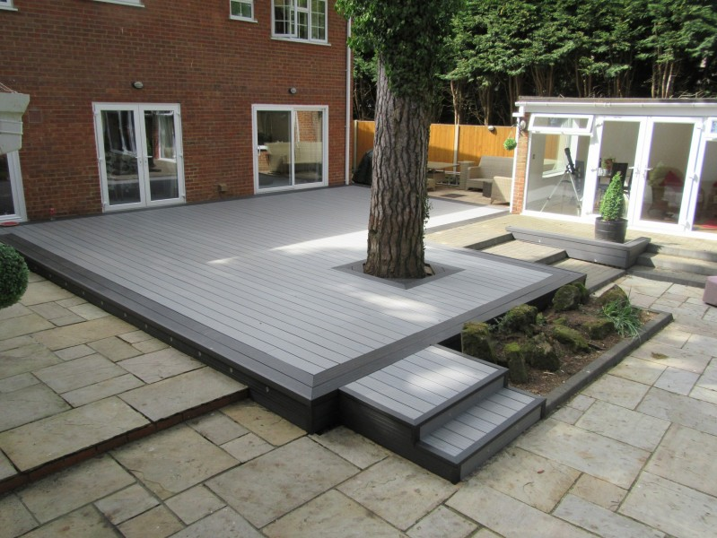 Light Grey / Stone Grey Composite Decking Board - 2 9m Long x 150mm x 25mm