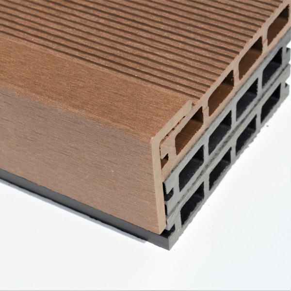 Brown Red Teak Composite Decking Angle Wpc Wood