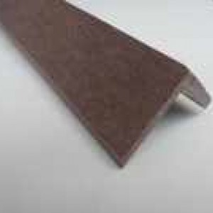 Dark Brown / Coffee Wood Plastic Composite - WPC - Decking Finishing Angle 2900mm Long