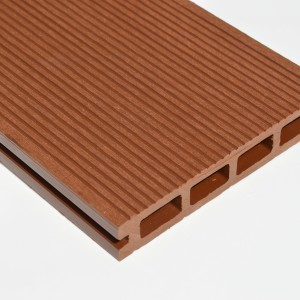 Composite Decking Board SAMPLE | Brown Red | Teak | Red Cedar | WPC