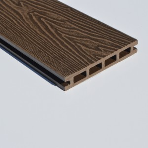 Dark Brown | Coffee | Deep Wood Grain Composite Decking Sample | WPC