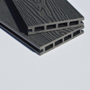 Graphite Grey | Deep Wood Grain Composite Decking Sample | WPC