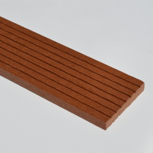 Brownish Red / Red Cedar / Teak Composite 73mm Finishing Skirting SAMPLE | WPC