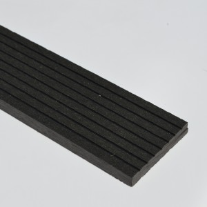 Black / Charcoal Grey Wood Plastic Composite - WPC - Decking Skirting 2900mm Long