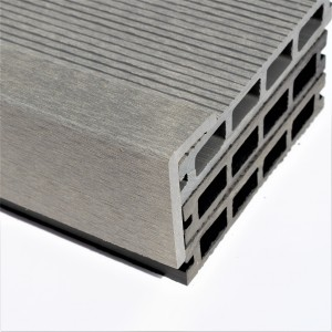 Light / Stone Grey Wood Plastic Composite - WPC - Decking Finishing Angle 2900mm Long