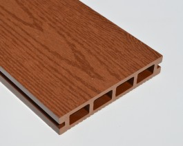 Woodgrain Brown Red | Teak | Autumn Brown Composite Decking Board | WPC | 2.9m Long