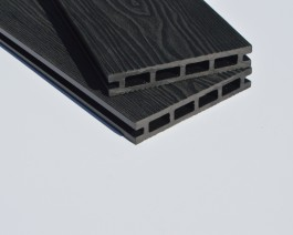 Black | Charcoal Grey | Deep Wood Grain Composite Decking Sample | WPC