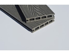 Stone Grey ( Light Grey ) | Deep Wood Grain Composite Decking Sample | WPC