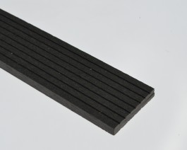 Black | Charcoal Grey Composite 73mm Finishing Skirting SAMPLE | WPC