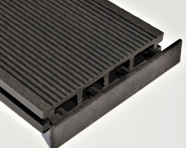 Black | Charcoal | Anthracite | Plastic End Cap | for Composite Decking Board | 150mm Wide