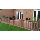 Brown Red | Teak Composite Decking Board | WPC | 2.2m Long