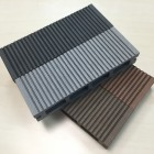 Composite Decking Board Sample | Light Grey | Stone Grey | WPC