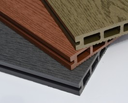 Woodgrain Composite Decking Board | WPC | Wood Plastic, Graphite Grey | Forest Green | Autumn Brown | Stone Grey, 2.9m | 3.6m Long,